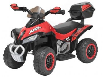 Junior Racer Mini Quad Bike Red & Black 6v Electric ATV Style Ride On Toy